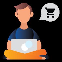 sitting boy to shop online