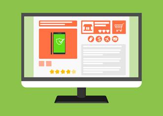 ecommerce illustration laptop