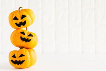 3 halloween mini pumpkin