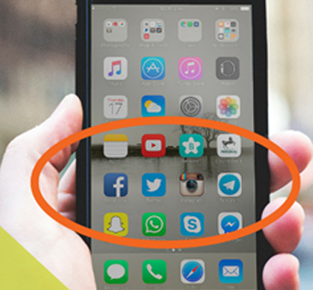 social media apps on phone