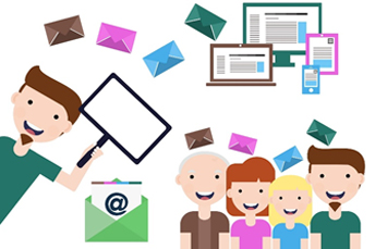 email marketing cartoon illustration