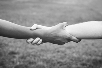 holding hand together
